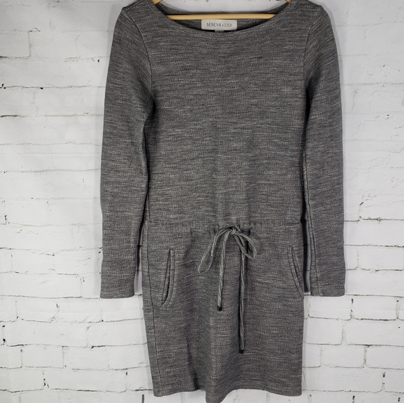 Serena & Lily Dresses & Skirts - Serena & Lily Wool Blend Gray Heathered Dress S